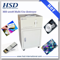 MH-2008 data destroyer degauss hard drive & shred CD/DVD/U flash/PCB/SSD