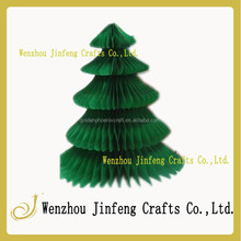 santa Tree Tissue Paper Craft, 3D Standing Honeycomb Decoration