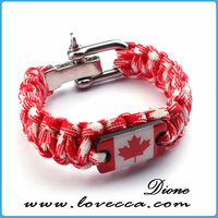 custom made flag color paracord bracelet paracord bracelet with beads