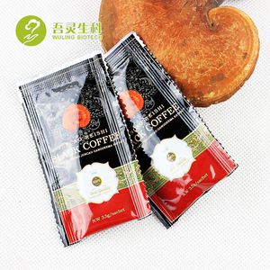 Free Sugar Natural Bio Herbs Coffee Reishi Ganodorma Black coffee with Individual Sachets