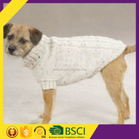 New design white color large dog big size quality cotton winter warm dog sweater