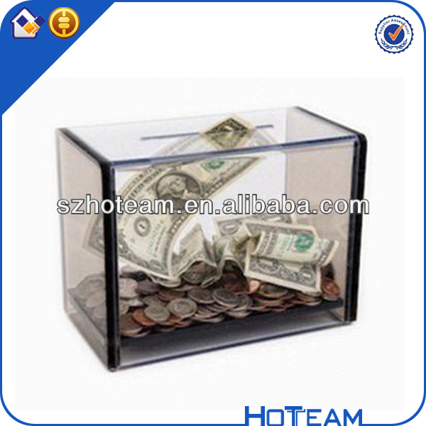 24 Clear Plexiglass Acrylic Donation Box Fund-raising Charity Collection cheap donation boxes gift boxes