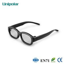 Classic and welcome plastic circular polalized 3D glasses for cinema