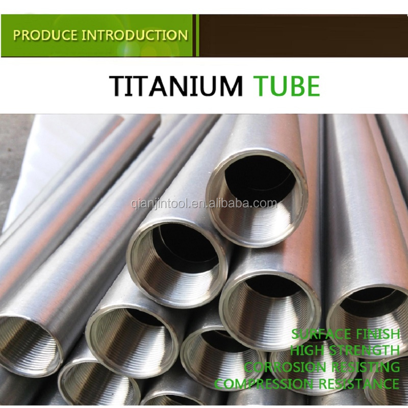 seamless astm b338 GR2 titanium tube for industry OD 50.8mm Thickness 4.5mm AW 10 meters