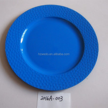 holesale wedding blue plastic charger plates