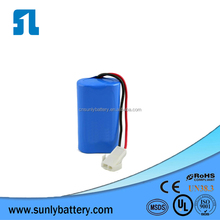 18650 2S 7.4V 2000mAh Li-ion Battery Pack Lithium-ion Battery Pack with CB KC certification