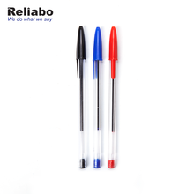 Reliabo Chinese Factory Customized Promotional Logo Plastic Recycled Transparent Ball Pen
