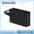 Customized 5 ports travel USB charger with plastic housing