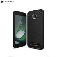 Carbon Fiber Soft Tpu Back Cover Phone Case For MOTO <strong>Z</strong> Play