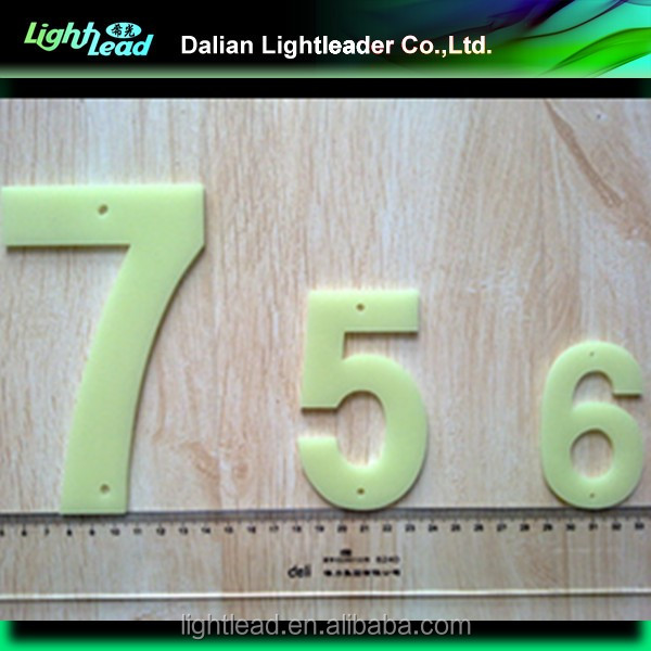 Phosphorescent Numbers and Letters
