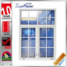 AS2047/2208 aluminium window and door manufacturers superhouse crank/casement window with top quality