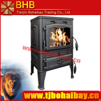 BHB cast iron material automatic glass cleaning wood stove