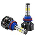 Wholesale 4sides emitting 8000lm high bright Headlight Bulb h4 led 6500k Waterproof h11 lamp universial H16 LED 5202