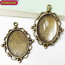 Customized Vintage Bronze Cameo Cabochon Frame Lot Tray Blanks Base Setting Jewelry