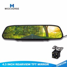 High Quality Waterproof Night Vision Car Camera Reverse System with 4.3 Inch Mirror Monitor