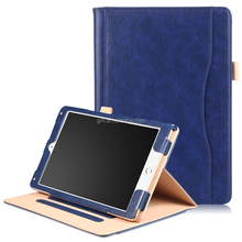 Handheld Leather Folio Cover Card Holder Stand Case For iPad Pro 10.5 (2017)