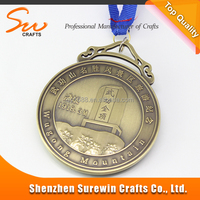 Custom Bronze Engraved Logo Travel Souvenir