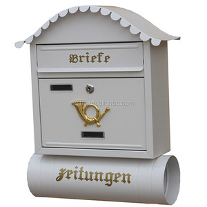 Euro design wall mounted mailboxes and newspaper holder
