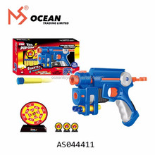 Boy birthday gift 6pcs soft bullets plastic target air soft toy pop gun