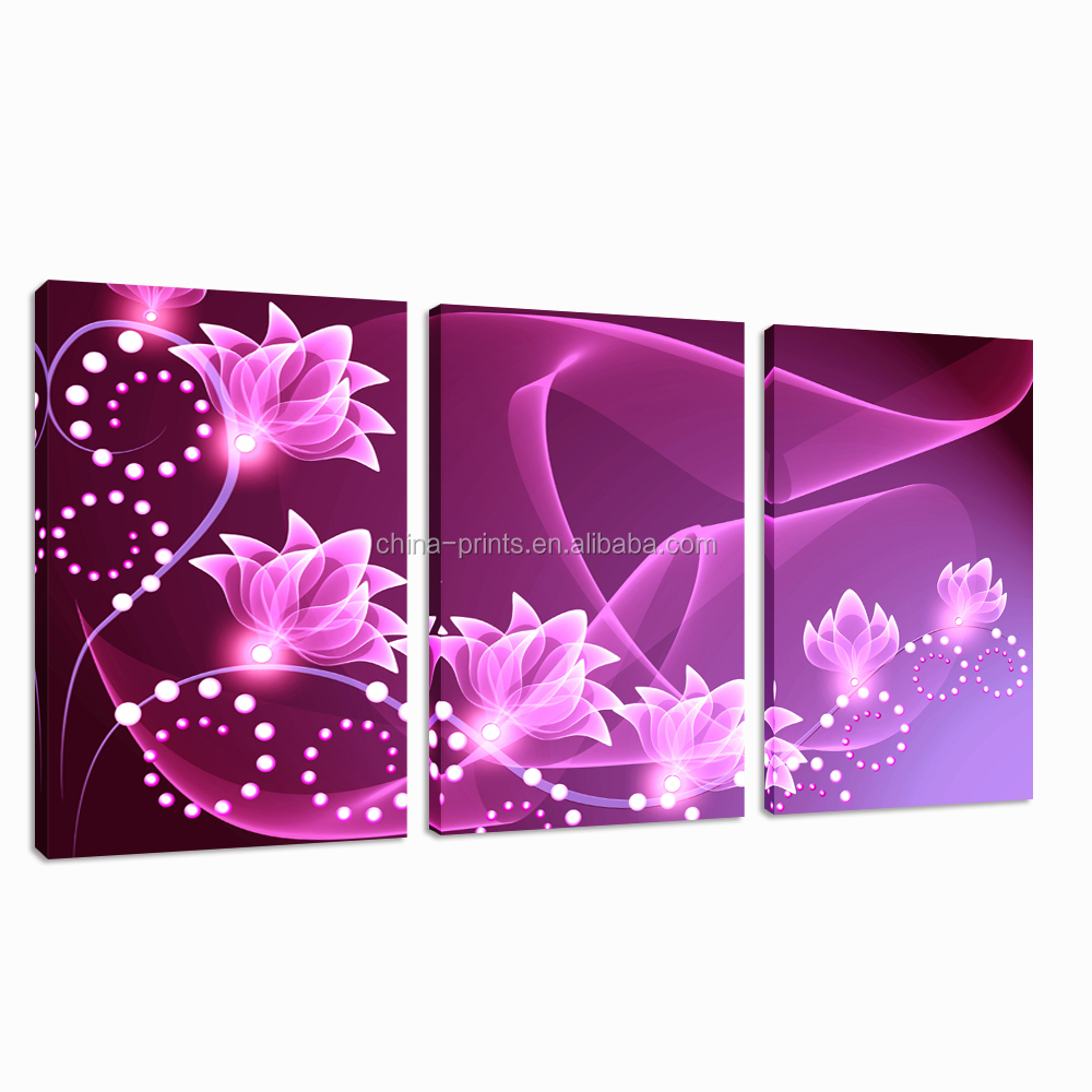 Modern Triptych Canvas Printing/New Wall Art Decor Frameless/Stretched Canvas Art