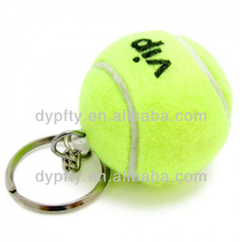 keychain tennis ball 1.75""