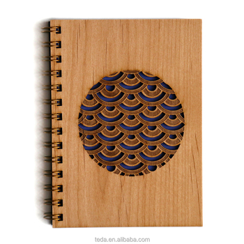 China Wholesale laser cut wood cover notebook