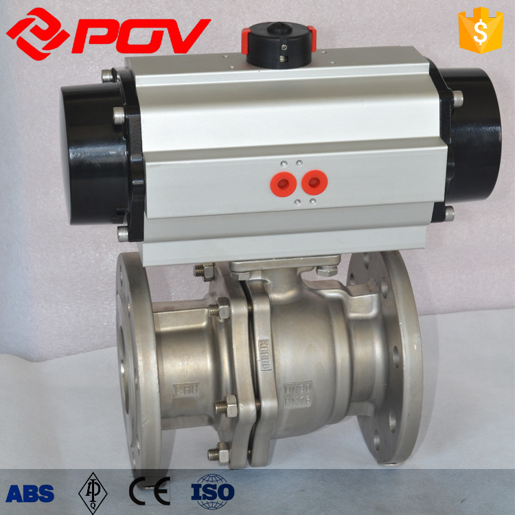 cf8m flange pneumatic ball valve double acting