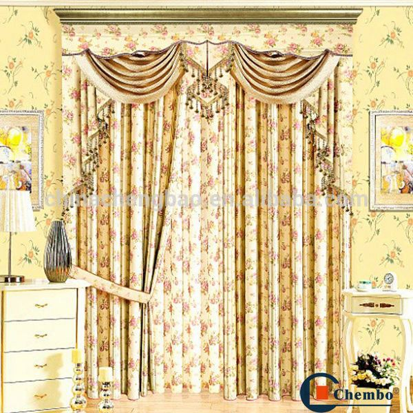 wholesale blackout cotton lace curtains