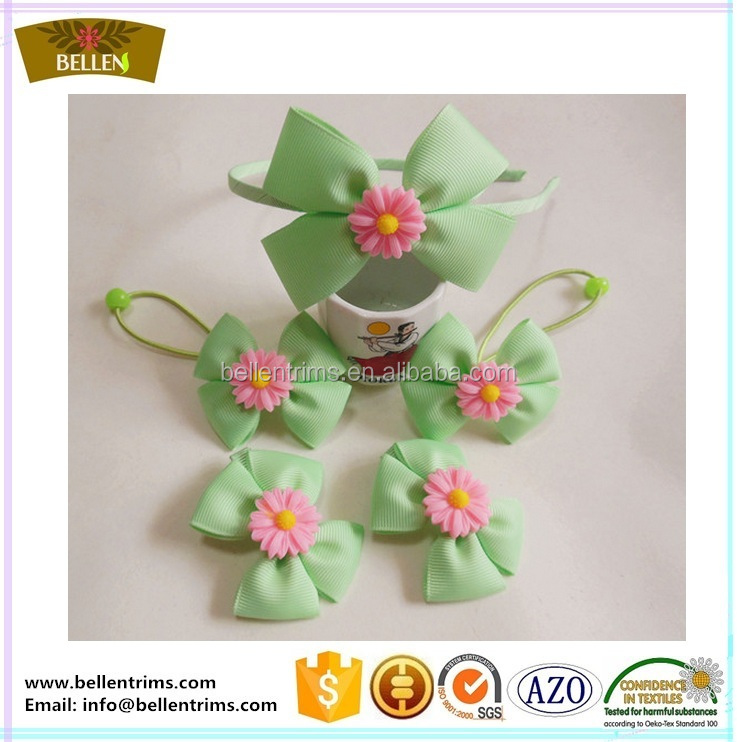 Wholesale cheap handmade ribbon flower korea alligator hair clips