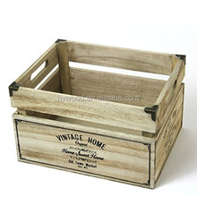 New Design custom cheap apple fruit vegetables nut wooden crates wholesale for christmas gift present storage