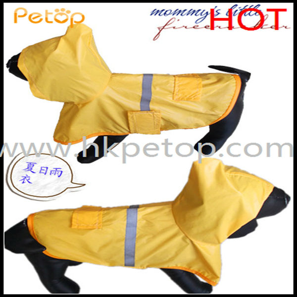 cheap price shinning reflective safety pet dog raincoat