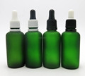 50ML Frost Green Glass Cosemtic Dropper Bottle with Plastic Tamper Proof Pipette Dropper Cap