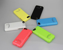 2200mAh Portable Battery Charging External Battery Backup Power Bank Case Cover For Apple iPhone 5 5S 5C