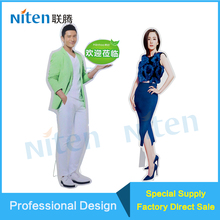 Trade exhibition cardboard cut out life-size standup standee board image display