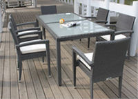 MD-6039 Miami rattan furniture made in China rattan tables and chairs