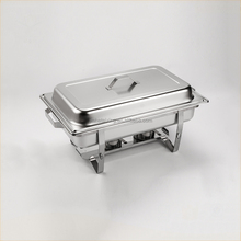 Economy stainless steel commercial buffet chafing dish food warmer square thermo food container