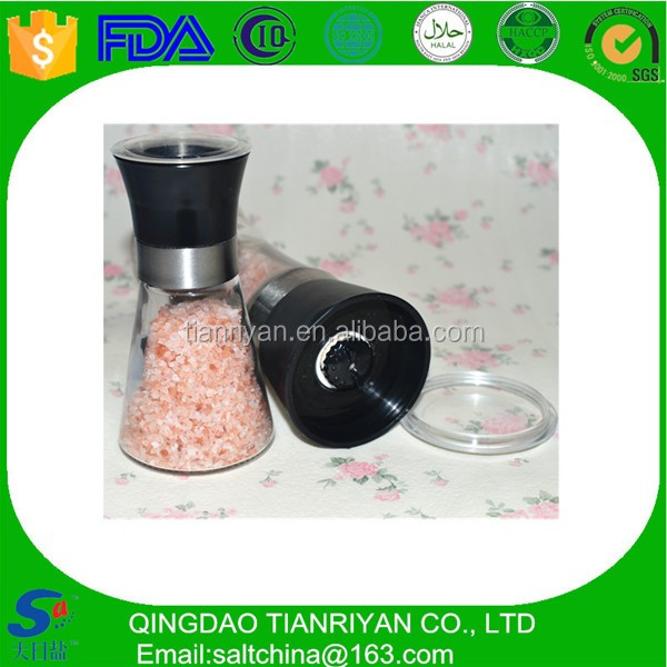 Food grade naturnal Himalayan salt mill grinder