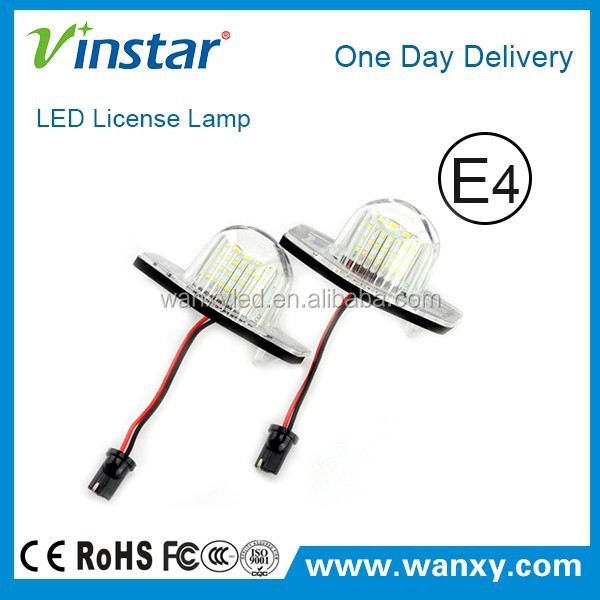 new design Vinstar led number plate light with E-mark for Honda Insight 5D 10~11