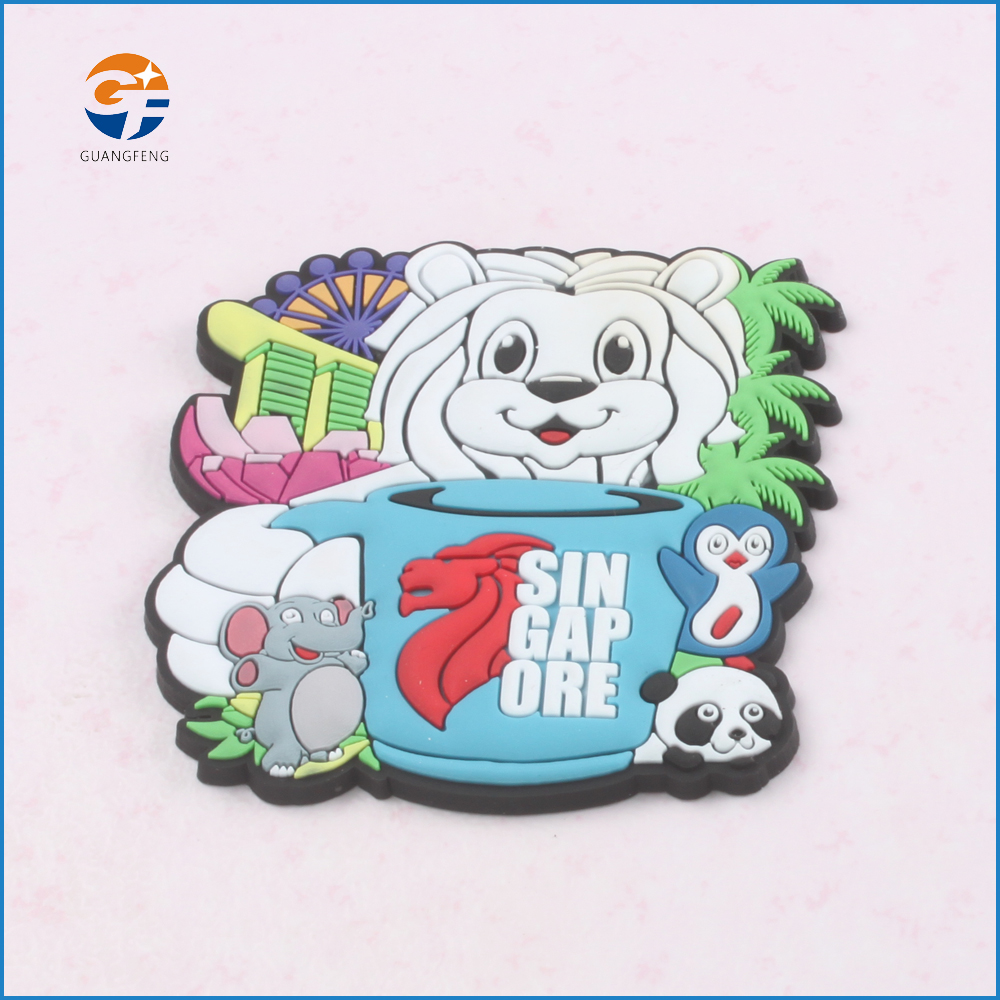 Custom Promotional Logo Printed Soft PVC /rubber 3d Fridge Magnet for different