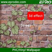 Fashional chinese house 3d brick design wallpaper for restaurant decoration made in China