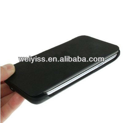 With 4000mAh Portable Power Bank External Battery Flip Leather Case for Samsung Galaxy Note II N7100