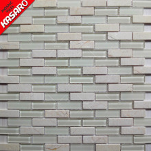 KSL8200 cheap building materials white crystal stone living rooms wall tile