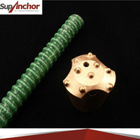 SupAnchor tunnelling and mining roof support chemical Self-Drilling FRP rock anchor bolt