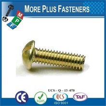 Made in Taiwan BSW Whitworth Slotted Round Head Machine Screw Brass BS450