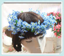 Four Leaf Clover Head Wreath Hair Accessories Flower Crown Accessories Bridal Headpiece Artificial Wedding Blue Flower Crown