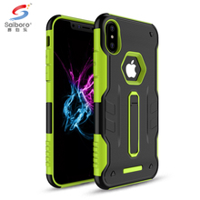 Saiboro Durable Protective Rugged Hybrid Armor Series Back Case For Iphone X Mobile Case, Tpu Pc Armor Phone Case For Iphone 8