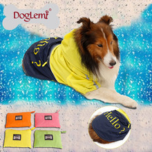 DogLemi Fashion Raincoat for Large Dog Fabric Large Dog Rain Jacket Trade Assurance