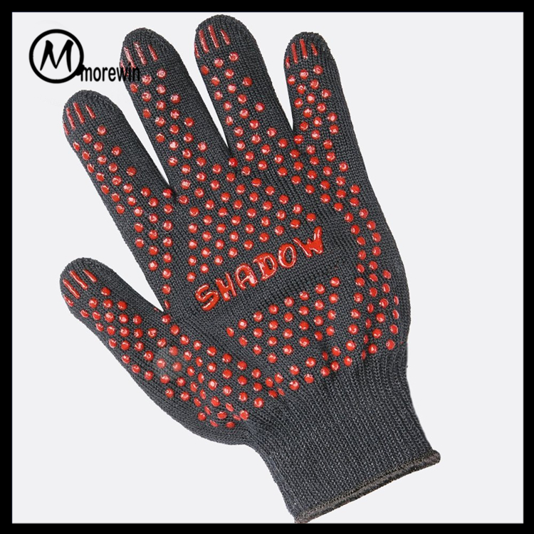 Morewin brand Amazon supplier red gloves hand dotted safe hands gloves with custom logo