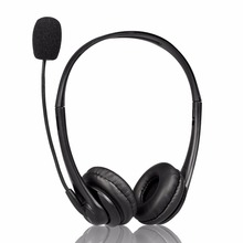 CE Factory Supply OEM USB Computer Call Center Headset With Binaural Earmuff
