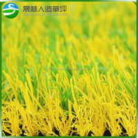 Artificial Grass for Gym Flooring Yellow Carpet Grass synthetic outdoor flooring